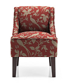 Marlow Accent Chair, Bardot Crimson