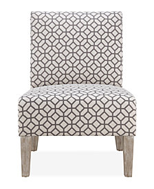 Brice Accent Chair, Grey Geometric
