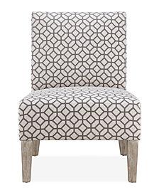 Brice Accent Chair, Grey Geometric