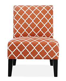 Brice Accent Chair, Orange Lattice