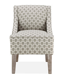 Prescott Accent Chair, Grey Hexagon