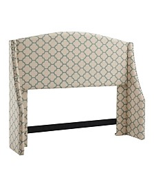 Regis Wing Headboard, King/California King, Sea Foam Lattice