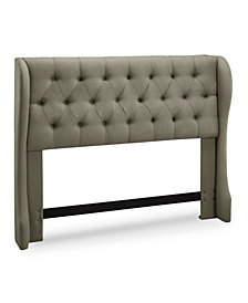 York Tufted Wing Headboard, Full/Queen, Grey