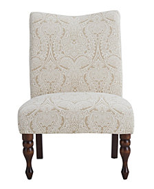 Payton Accent Chair, Paisley Putty