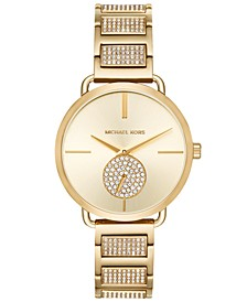 Women's Portia Gold-Tone Stainless Steel Pavé Accent Bracelet Watch 37mm