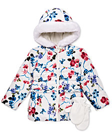 S. Rothschild Toddler Girls Floral Bow Print Jacket
