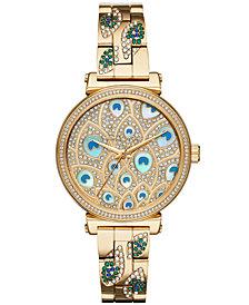 Michael Kors Women's Sofie Gold-Tone Stainless Steel Bracelet Watch 36mm