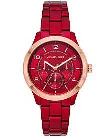 Women's Runway Red Stainless Steel Bracelet Watch 38mm