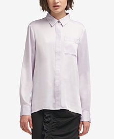 DKNY Pocket Button-Front Shirt, Created for Macy's
