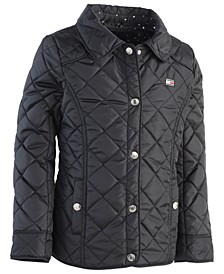 Little Girls Quilted Barn Jacket