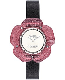 Women's Perry Created for Macy's Black Leather Strap Watch 36mm