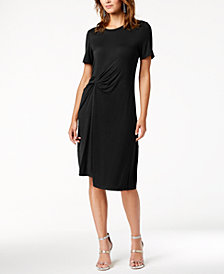 RACHEL Rachel Roy Draped-Front Dress, Created for Macy's