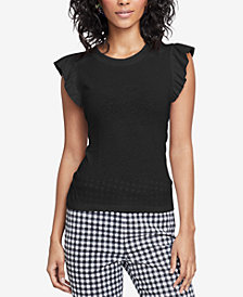 RACHEL Rachel Roy Tie-Back T-Shirt, Created for Macy's