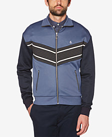 Original Penguin Men's Striped Track Jacket