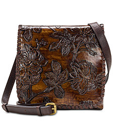 Patricia Nash Bark Leaves Granada Crossbody, Created for Macy's