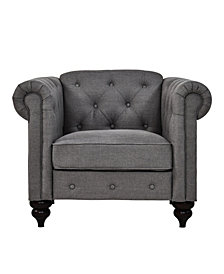 Sofas 2 Go Elizabeth Chair Charcoal