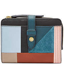 Fossil Fiona Tab Multifunction Patchwork Wallet