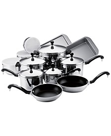 Classic Stainless Steel 17-Pc. Cookware Set