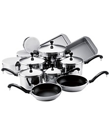 Farberware Classic Stainless Steel 17-Pc. Cookware Set