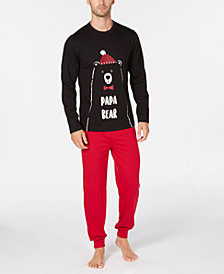Matching Family Pajamas Men's Papa Bear Pajama Set, Created for Macy's