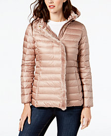 Cole Haan Signature Faux-Fur-Trim Down Puffer Coat