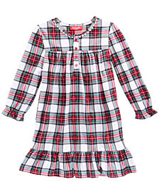 Matching Family Pajamas Stewart Plaid Nightgown, Available in Toddler and Kids, Created for Macy's