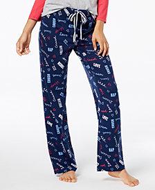 Jenni by Jennifer Moore Cotton Printed Pajama Pants, Created for Macy's