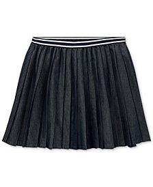 Polo Ralph Lauren Big Girls Pleated Twill Skirt