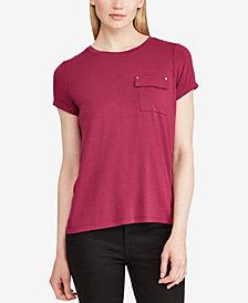Lauren Ralph Lauren Striped Pocket T-Shirt