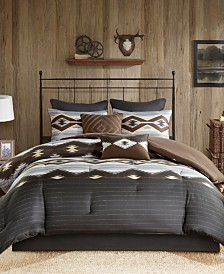 Woolrich Bitter Creek Reversible 8-Pc. California King Comforter Set
