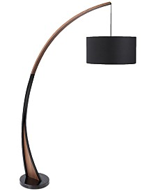 Lumisource Noah Walnut Floor Lamp