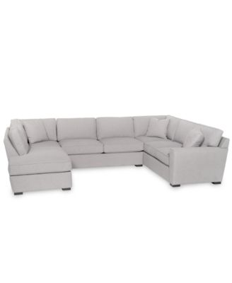 Callington 3-Pc. Fabric Feather Down Chaise Sectional Sofa, Created for Macy's