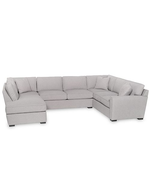 the best attitude dda92 03286 Callington 3-Pc. Fabric Feather Down Chaise Sectional Sofa, Created for  Macy's