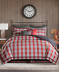 Woolrich Williamsport Plaid 4-Pc. Queen Comforter Set