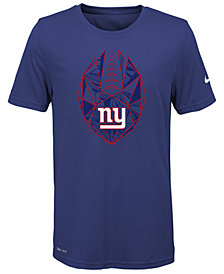 Nike New York Giants Football Icon T-Shirt, Big Boys (8-20)