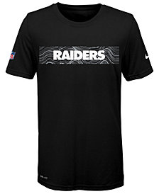 Nike Oakland Raiders Sideline T-Shirt, Big Boys (8-20)
