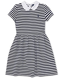 Big Girls Striped Fit & Flare Dress