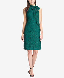 Vince Camuto Tie-Neck Lace Dress