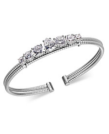 Danori Crystal Double-Row Cuff Bracelet, Created for Macy's