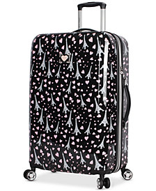 "Betsey Johnson Paris Love 26"" Hardside Spinner Suitcase"