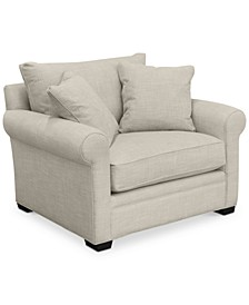 "Dial II 49"" Fabric Armchair with 2 Toss Pillows"