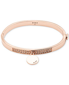 DKNY Pavé Charm Disc Bangle Bracelet