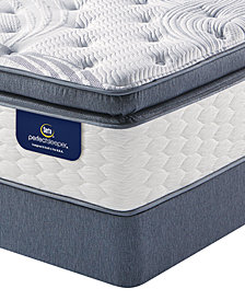 Serta Perfect Sleeper 14.75'' Glendower Plush Pillow Top Mattress Set- Twin