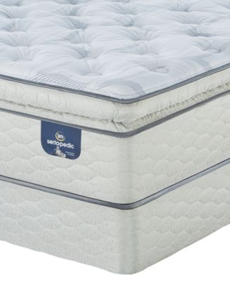 "Sertapedic 14"" Cassaway Plush Pillow Top  Mattress Set- Twin"