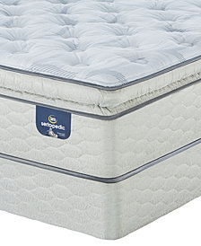 "Serta Sertapedic 14"" Cassaway Plush Pillow Top Mattress Set- California King"