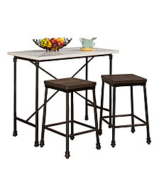 Castille 3-Piece Piece Counter Height Breakfast Set