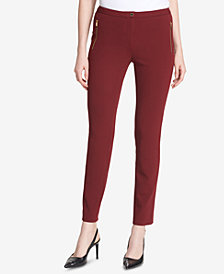 Calvin Klein Straight-Leg Ponte Pants