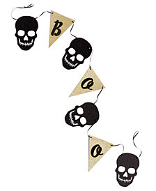 CLOSEOUT! Martha Stewart Collection Halloween Boo Paper Skull Halloween Garland, Created for Macy's
