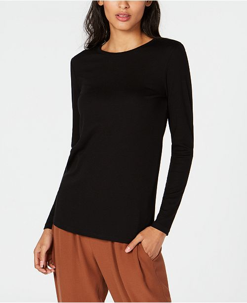 Round Black Slim Fisher Neck Eileen Top SxBgqFAn