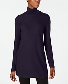 Eileen Fisher Tencel® Long-Sleeve Turtleneck Tunic